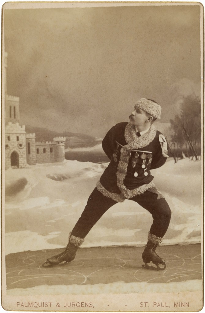 """[Skater]"" by Alfred U. Palmquist and Peder T. Jurgens, St Paul, Minn., 1880s. Albumen silver print. Amon Carter Museum of American Art."